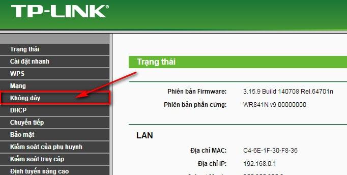 thay đổi pass wifi