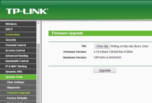 Cập nhật Firmware của modem wifi lên phiên bản mới nhất