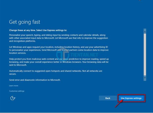 Thiết lập cá nhân Windows 10