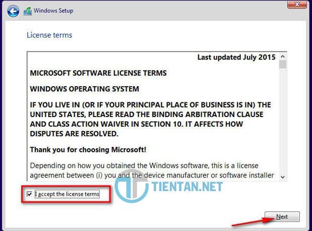 Điều khoản của Microsoft