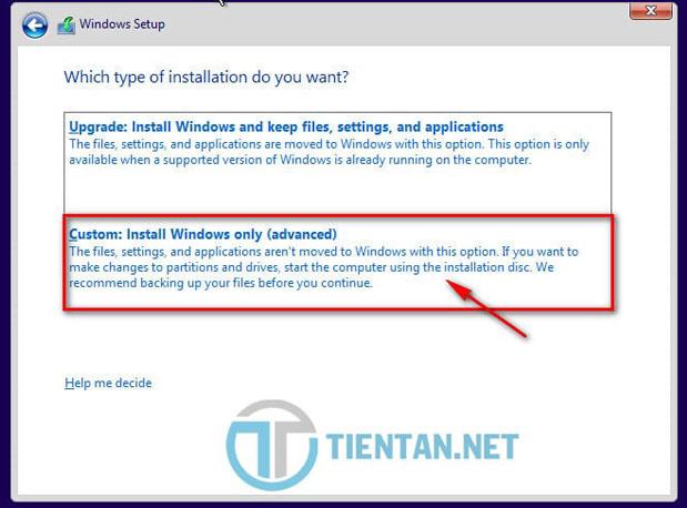 Chọn nâng cấp Windows 10 hay cài đặt Windows 10