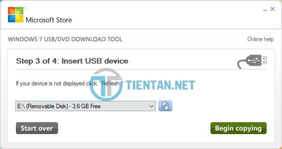 Tạo USB cài đặt Windows 7,8,10