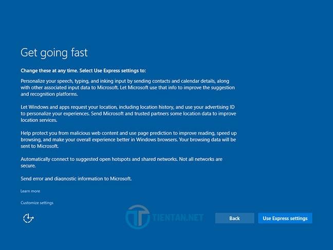 Tùy chọn nâng cấp lên Windows 10