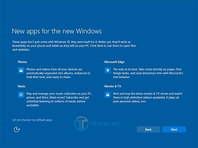 Ứng dụng được cài đặt khi upgrade Windows 10