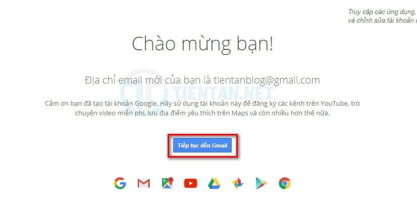 Tạo tài khoản gmail miễn phí