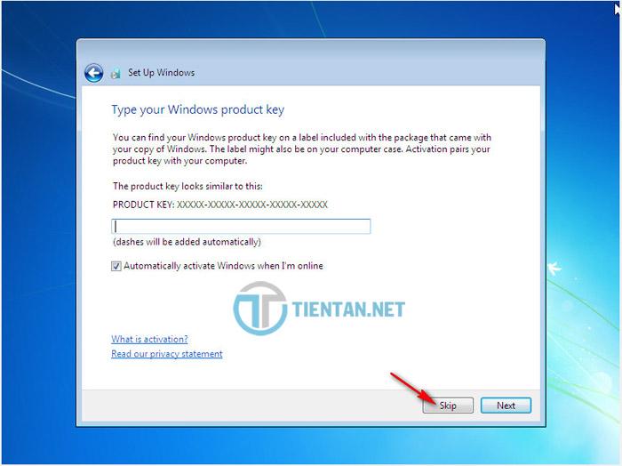 CD key Windows 7