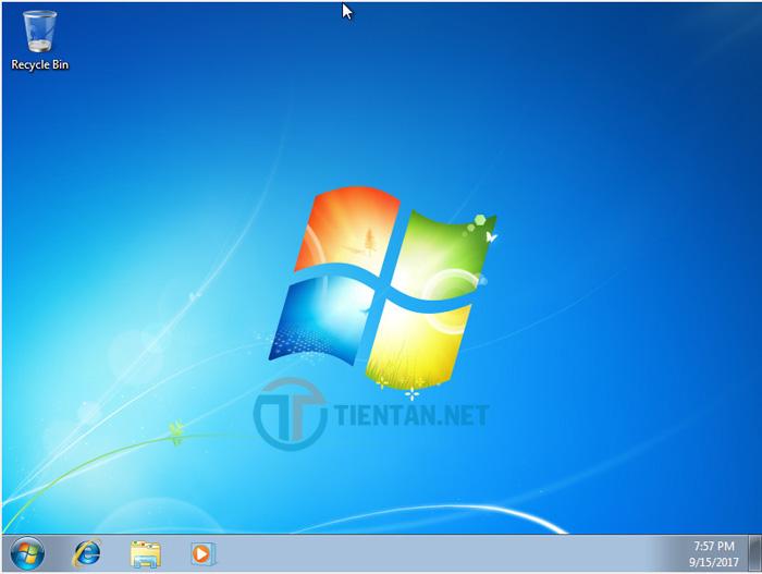Hoàn thành cài đặt Windows 7