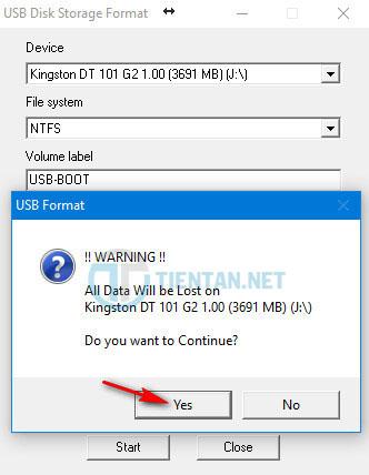 format USB Boot