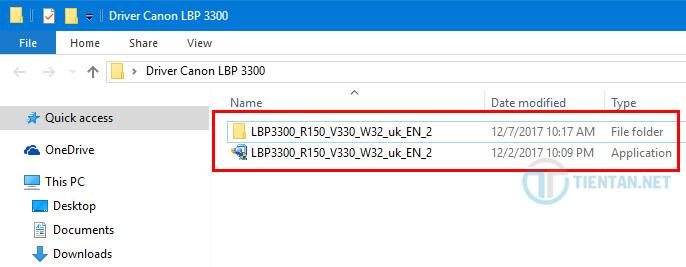 thư mục Driver Canon LBP 3300 32 bit