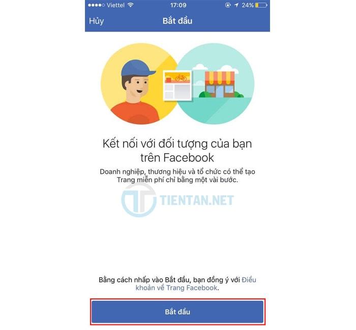 lập fanpage facebook đơn giản