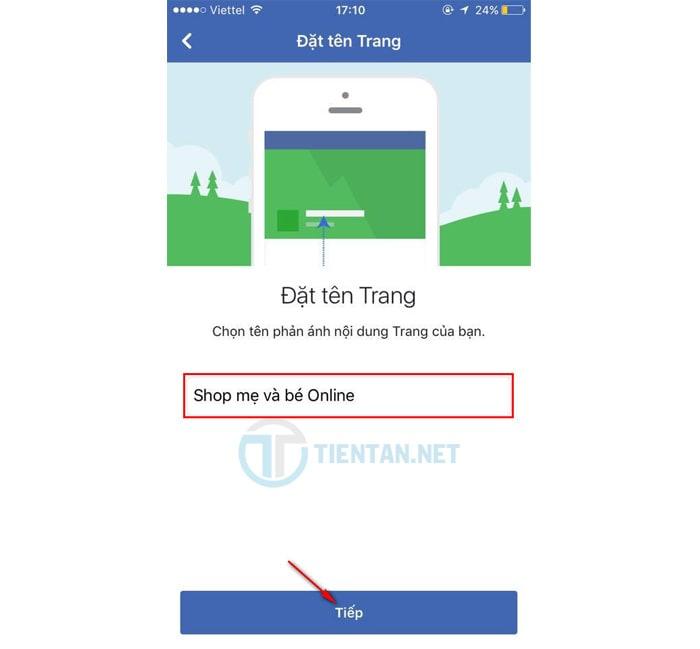 đặt tên Fanpage Facebook bán hàng