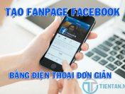 Cách tạo Fanpage Facebook bằng điện thoại đơn giản