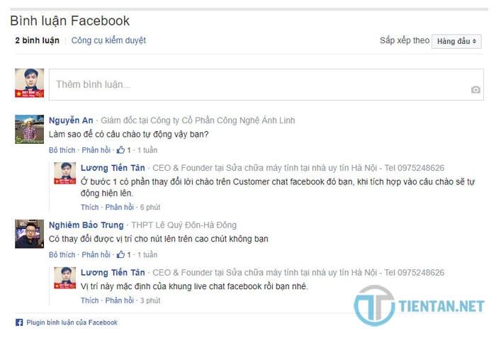 Chèn Facebook Comment nhanh vào website/blog WordPress