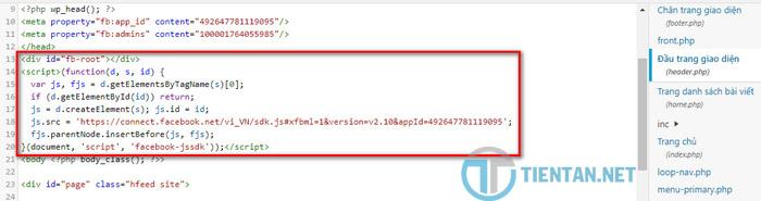 Tích hợp khung bình luận Facebook vào website WordPress