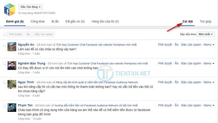 Quản lý comment Facebook tránh spam