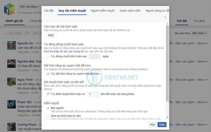 thiết lập chống Spam Comment Facebook cho website WordPress