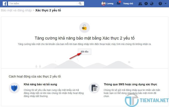 Tăng cường bảo mật xác thực 2 yếu tố cho Facebook an toàn
