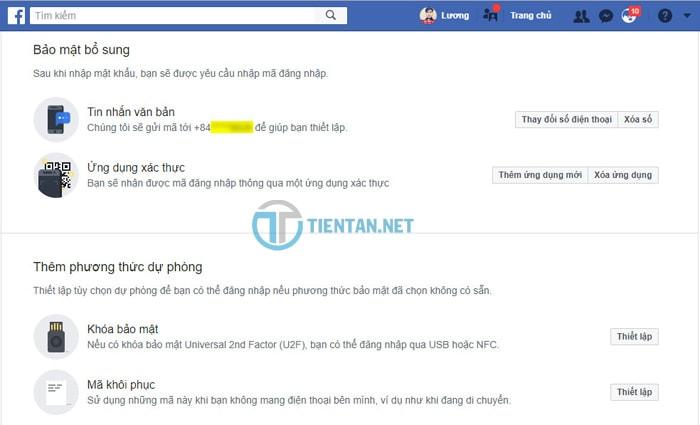 Đăng nhập Facebook nếu không nhập được mã bảo mật tin nhắn về điện thoại di động