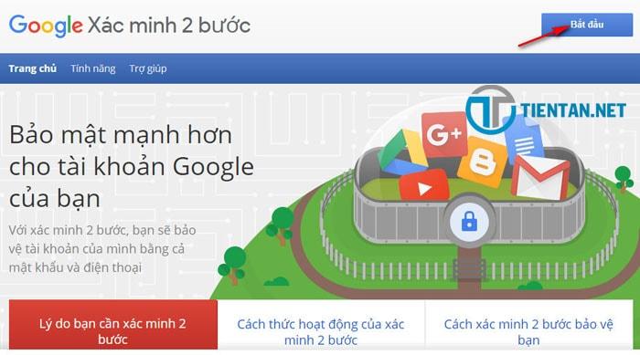 Bật xác minh 2 bước cho tài khoản Gmail an toàn trước hacker