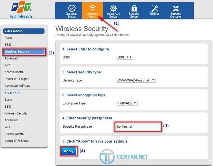 Cách đổi mật khẩu wifi FPT chi tiết mới nhất 2018