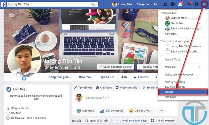Mở chế độ theo dõi Facebook bằng máy tính