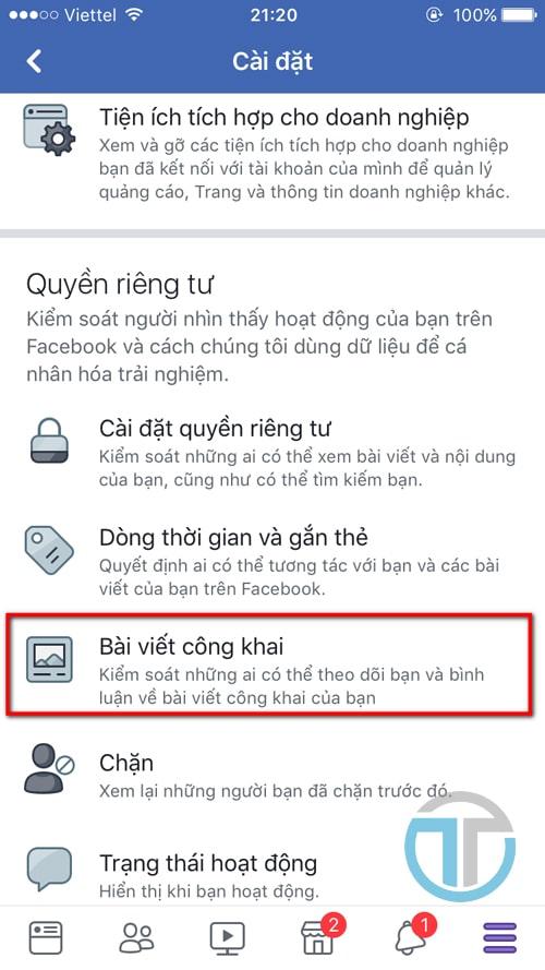 Hướng dẫn bật theo dõi facebook bằng điện thoại