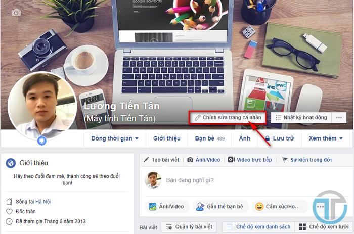 Chỉnh sửa trang cá nhân facebook để hiển thị số người theo dõi bạn trên facebook