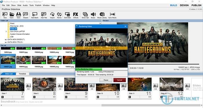 Cách xuất Video trên phần mềm Proshow Producer 9.0