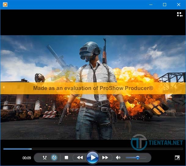 Video hiện dòng chữ màu vàng trong proshow producer 9