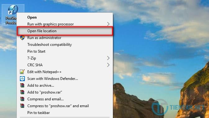 Mở đường dẫn phần mềm Proshow Producer 9.0 full sau khi setup